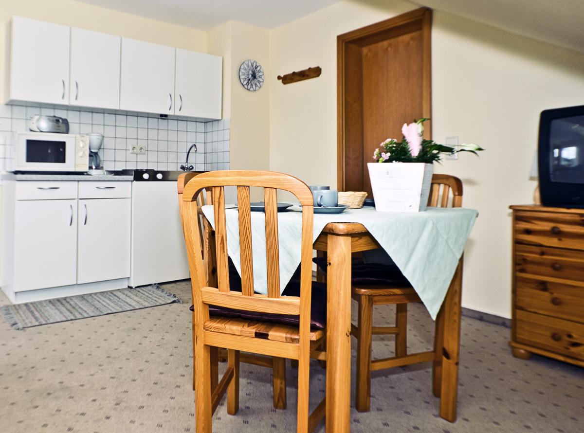 Appartement A - Essbereich