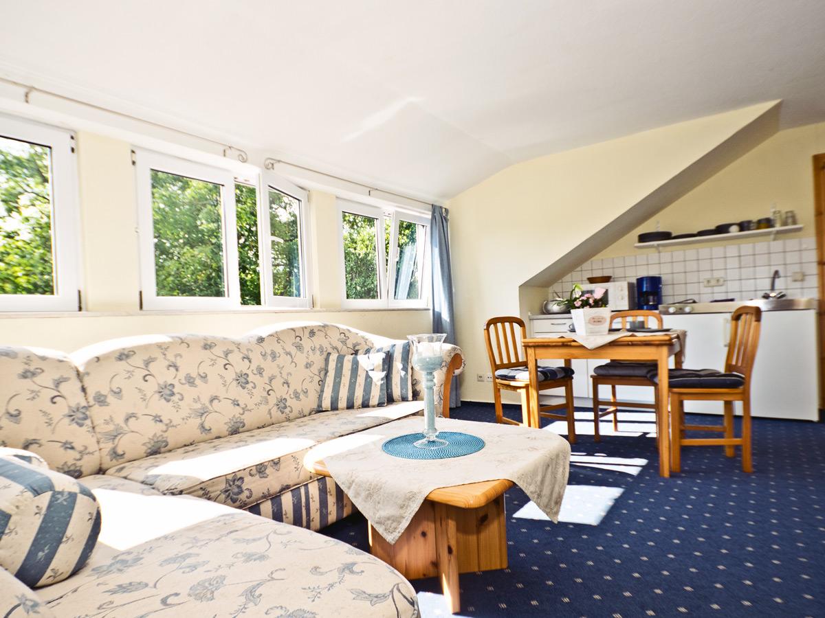 Appartement D - Wohnzimmer